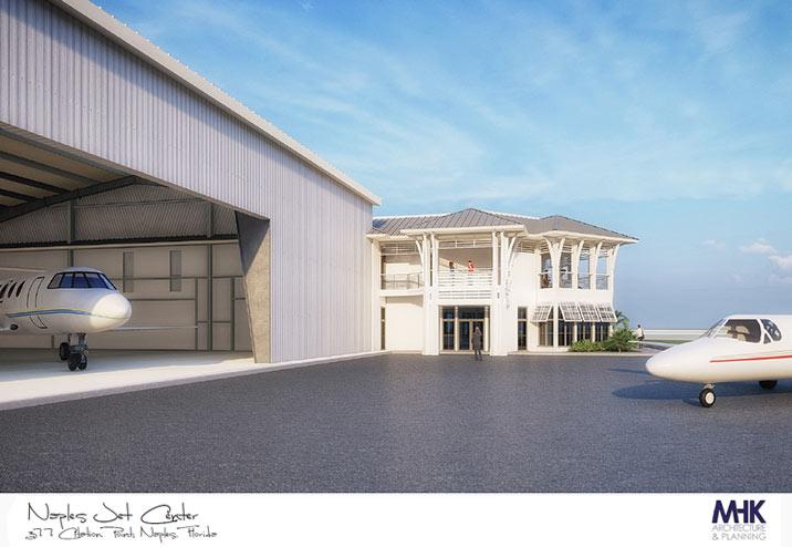 Naples Jet Center new Naples Hangar Concept Schematic | Naples, Florida Airport Location