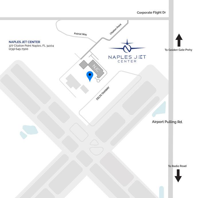 Naples Jet Center Location Map | Concierge Air & Ground Travel Services Naples, Florida