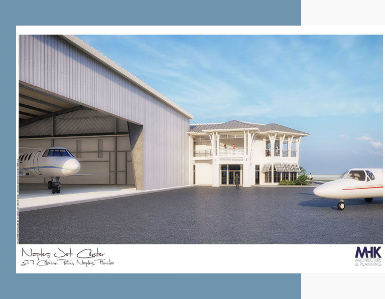 Entrance to Private Jet Hangar Rental Naples Airport | Naples Jet Center